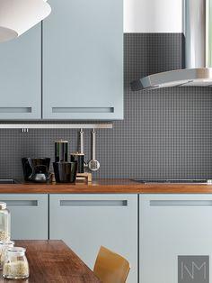 Ikea Kitchen Cabinets, Kitchen Cabinet Doors, Farrow Ball, Beautiful Homes, Handle, Contemporary, Design, Home Decor, Modern
