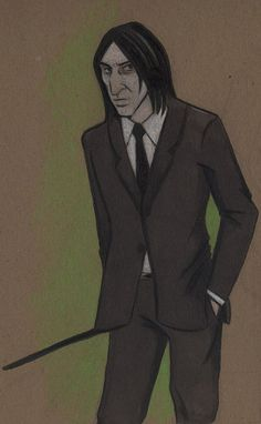(via Snape inna Suit by ~acatnamedeaster on deviantART)