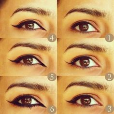 How To Do Arabic Eyeliner By فاطمة ه ❤ liked on Polyvore featuring beauty products, makeup, eye makeup and eyeliner