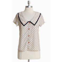 Modern Vintage Inspired Tops & Shirts | Ruche via Polyvore