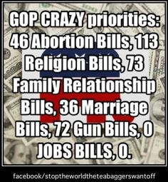 0 JOBS BILLS!!! But it's all President Obama's fault according to these idiots
