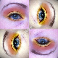 Playing around with colours a couple weeks ago. Put together this yellow/orange combo. #beauty #makeup #bbloggers #sydneexo