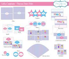 #Gráfica para #cumpleaños #princesas #Disney #bebés