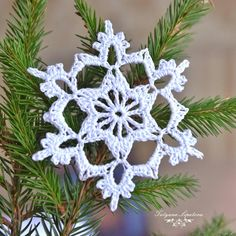 holiday decoration garland, Knitted snowflake on the Christmas tree, Christmas decoration, crochet snowflake garland, crochet bunting - Nahen Crochet Bunting, Crochet Snowflake Pattern, Crochet Garland, Crochet Ornaments, Christmas Crochet Patterns, Crochet Snowflakes, Crochet Toys Patterns, Diy Christmas Snowflakes, Snowflake Garland