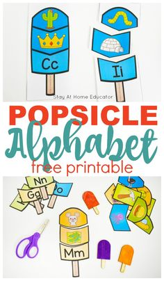 Teach your preschooler beginning sounds this summer with these free printable popsicle puzzles Summer Preschool Activities, Preschool Literacy, Preschool Lesson Plans, In Kindergarten, Alphabet Activities For Preschoolers, Literacy Centers, Teaching Letter Sounds, Teaching Letters, Preschool Letters