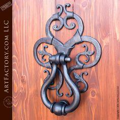 European style iron door knocker on Custom Exterior Door EDD1492