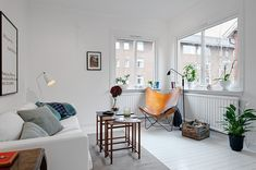 A pretty white apartment in Gothenburg