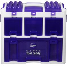 The perfect storage solution, designed with busy cake decorators in mind! This caddy is spacious enough to keep all of your tools organized, and versatile enough to take with you for touch ups at even