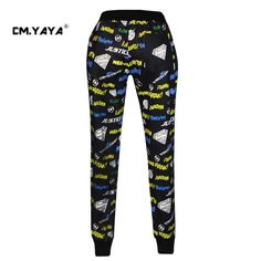 CMYAYA 2016 New Casual Black Print Letters Men/Women/Girls/Boys Enjoy 50% Discount Jogger Pant at our web shop http://www.aliexpress.com/store/536244