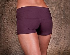 Womens Shorts - Yoga Shorts - Hot Pants - Yoga Clothing - Activewear - Organic Cotton Shorts Plum on Etsy, $44.61 CAD