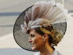 Countess of Wessex, March 2012 in Jane Taylor Eugenie Of York, Royal Ascot Hats, Lady Louise Windsor, Fascinator Hats, Fascinators, Feather Hat, Prince Edward, Prince Philip, Wearing A Hat