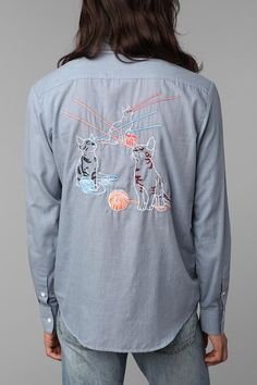 Toddland Embroidered Chambray Shirt. Totally a dudes shirt but i dont even curr. Neeed.