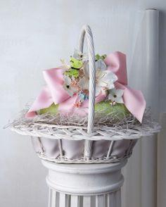 Little girl Easter basket. Dollar Tree clothes basket, Dollar Tree ...
