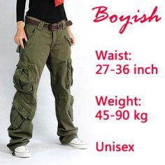 Womens cargo broek mode multi pocket casual katoenen broek breed been broek cargo overalls vrouwen hip hop broek