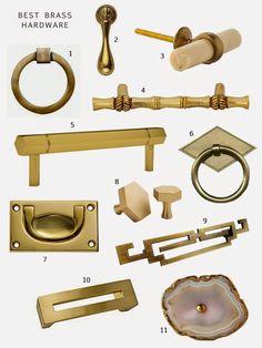brass hardward options