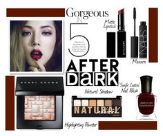 """""""Gorgeous in 5: After Dark Beauty"""" by juliehalloran ❤ liked on Polyvore featuring beauty, Bobbi Brown Cosmetics, Witchery, NARS Cosmetics, Deborah Lippmann and NYX"""