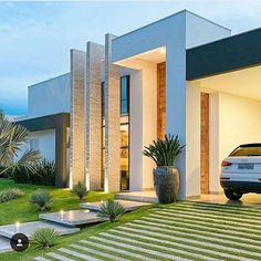 Best Ideas For Modern House Design & Architecture : – Picture : – Description Hinterhofpoolluxus Modern House Design & Architecture : - Dear Art Villa Design, Modern House Design, Modern House Facades, Facade Architecture, Contemporary Architecture, Residential Architecture, Contemporary Design, Dream House Exterior, House Entrance