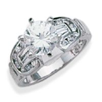 RH3492: Sterling silver ring set with CZs.  Available in whole number sizes only.
