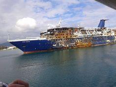"""Ocean Countess"" wreck enroute to breakers in Aliaga, Turkey"