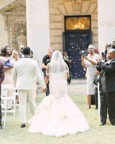 A Glamorous, Vintage-Inspired Wedding in Atlanta, Georgia Wedding Exits, Tent Wedding, Garden Wedding, Wedding Ceremony, Wedding Dresses, Outdoor Wedding Favors, Wedding Walkway, Wedding Isles, Martha Stewart Weddings