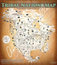 Comprehensive Tribal maps of the Native American and First Nations / Inuit Nations of North America