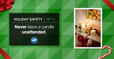 #StaySafe and smart about #FireSafety this #Holiday season! Never leave an open fire unattended. #ADT #AlwaysThere