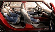 Mini Clubman Concept Interior sketch