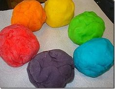 Edible kool-aid playdough
