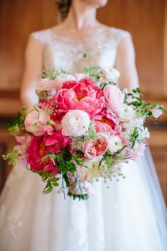 Bouquet with Peonies, Garden Roses, and Ranunculus | Brides.com