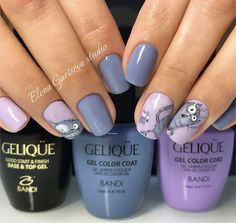 cat and mouse manicure nail art design