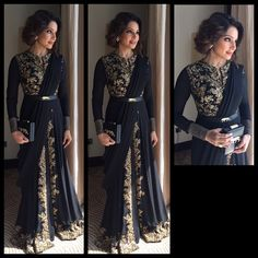 """Bipasha Basu in Sabyasachi Indian couture"" Indian Gowns, Indian Attire, Indian Wear, Black Indian Gown, Pakistani Outfits, Indian Outfits, Ethnic Fashion, Asian Fashion, Indian Fashion Trends"