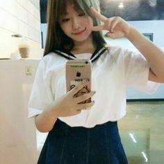 IOI - Kim SoHye 김소혜 selca in sailor uniform #세일러복 #셀카