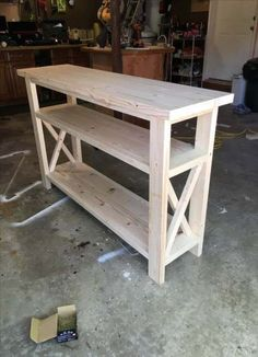 Handcrafted Wood Rustic Console Table Modern Farmhouse