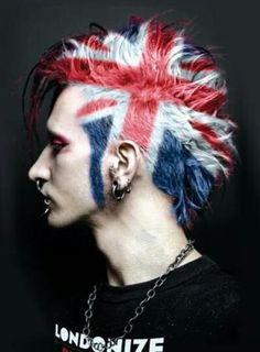British punk hair <3