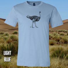 Ostrich Light Blue, Gift, Mens Tops, T Shirt, Fashion, Supreme T Shirt, Moda, Tee Shirt, Fashion Styles