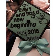 sisters graduation cap! #sjc2015 #stjosephscollege #mintgreen #bow