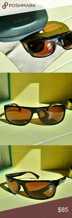 Shiny Satin Black Serengeti Sport Fasano Sunglasses Polar PhD 555nm