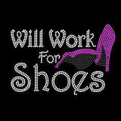 will work for shoes rhinestone transfer