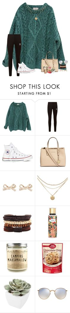 """~going ice skating but idk what to wear~"" by taylortinsley ❤ liked on Polyvore featuring Essentiel, adidas Originals, Converse, Michael Kors, Kate Spade, Victoria's Secret, Betty Crocker, Abigail Ahern and Ray-Ban"