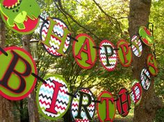 Little T Rex Dinosaur Birthday Banner MADE TO by paperpeddler, $35.00