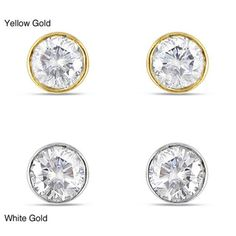 @Overstock - These solitaire stud earrings are made with round-cut white diamonds totaling 1/4 carat. These earrings are crafted of your choice of 14-karat white or yellow gold and are secured with butterfly clasps.http://www.overstock.com/Jewelry-Watches/Miadora-14k-Gold-1-4ct-TDW-Bezel-set-Diamond-Solitaire-Earrings-H-I-I1-I2/6613627/product.html?CID=214117 $279.99
