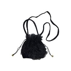 Eligant Black Classic Beautiful Victorian Gothic Velvet Lace... (1.300 RUB) ❤ liked on Polyvore featuring bags, handbags, gothic purse, evening bags, evening hand bags, velvet bag and draw string bag
