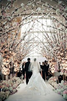 I love the branches for an autumn or winter wedding. Wedding Aisle Designs that Will Take Your Breath Away