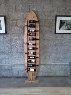 This will be perfect for my future beach house ;) Surfboard Wine Rack by Klineworks on Etsy. Surfboard Decor, Surf Decor, Surfboard Storage, Decoration Surf, Deco Surf, Surf House, Into The Woods, Beach House Decor, Home Decor