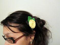 Rosette Hair Clips and Headbands