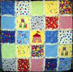 Baby Rag Quilt Circus Tent by LadybugsTreasures on Etsy, $50.00