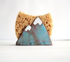 Mountain Sponge Holder-Napkin Holder-Ceramics And Pottery