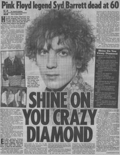 syd barrett dies....Click the image to join the Laughing Madcaps Syd Barrett Group, now on FacebooK! The original! Around since 1998!
