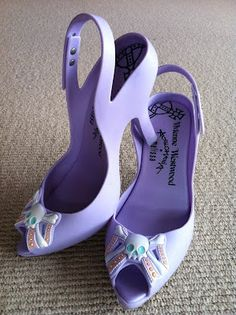 Vivienne Westwood Melissa shoes, they look like those plastic kids heels you'd get at toy stores!