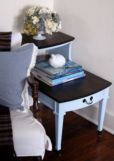 2 Tiered Side Table Revealed - Miss Mustard Seed